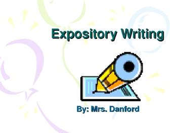 This is a great modeling lesson for writing expository